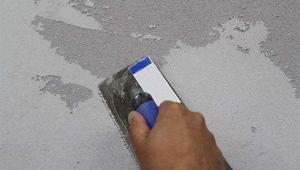 3.krok aplikace 2.vrstvy betonové stěrky 0,0mm
