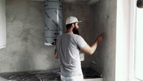 """Workshop """"Aplikace betonové stěrky svépomoci"""""""